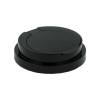 black cap for towel wipe canister