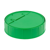 green cap for towel wipe canister