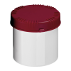 650mL HDPE UN Rated White Packo Jar with Red Lid