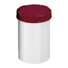 1000mL HDPE UN Rated White Packo Jar with Red Lid