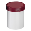 1500mL HDPE UN Rated White Packo Jar with Red Lid