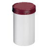 2000mL HDPE UN Rated White Packo Jar with Red Lid