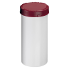 2500mL HDPE UN Rated White Packo Jar with Red Lid