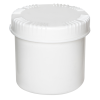 650mL HDPE UN Rated White Packo Jar with White Lid
