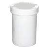 1000mL HDPE UN Rated White Packo Jar with White Lid