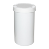 1300mL HDPE UN Rated White Packo Jar with White Lid