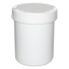 1500mL HDPE UN Rated White Packo Jar with White Lid