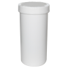 2500mL HDPE UN Rated White Packo Jar with White Lid