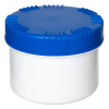 500mL HDPE UN Rated White Packo Jar with Blue Lid