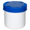 650mL HDPE UN Rated White Packo Jar with Blue Lid