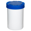 1000mL HDPE UN Rated White Packo Jar with Blue Lid