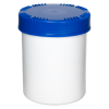 1500mL HDPE UN Rated White Packo Jar with Blue Lid