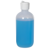 8 oz. LDPE Boston Round Bottle with 24/410 Flip-Top Cap