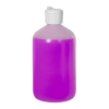 16 oz. LDPE Boston Round Bottle with 28/410 Flip-Top Cap
