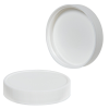 58/400 White Polypropylene Ribbed Cap with F217 Liner