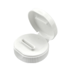 38/400 White Flip-top Cap with 5mm x 24.5mm Orifice