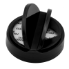 63/485 Black Tear Drop Dual Door Spice Cap with Heat Induction Liner for PET Jars