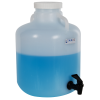 2-1/2 Gallon Nalgene™ Wide Mouth LDPE Carboy Modified by Tamco® with a Fast Draw Off Spigot
