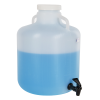 4 Gallon Nalgene™ Wide Mouth LDPE Carboy Modified by Tamco® with a Fast Draw Off Spigot