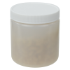 16 oz. Natural HDPE Wide Mouth Jar with 89/400 Cap