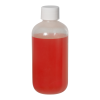 6 oz. LDPE Boston Round Bottle with 24/410 Plain Cap