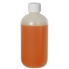 8 oz. LDPE Boston Round Bottle with 24/410 Plain Cap