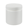 8 oz. White HDPE Wide Mouth Jar with 70/400 Cap