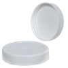 53/400 White Polypropylene Ribbed Cap with F217 Liner