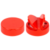 63/485 Red 3 Hole Dual Door Spice Cap with Heat Induction Liner for PET Jars