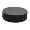 38/400 Black Polypropylene Cap with Pressure Sensitive Liner