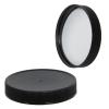 63/400 Black Polypropylene Cap with Pressure Sensitive Liner