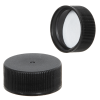 24/400 Black Polypropylene Cap with Pressure Sensitive Liner