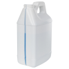 64 oz. White HDPE F-Style Jug with Window Strip with 38/400 Neck (Cap Sold Separately)