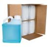 1 Gallon Natural F-Style Jugs with Slant Handles & 63mm Neck in Carton with Divider (Caps Sold Separately)