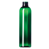 6 oz. Green PET Cosmo Round Bottle with 24/410 Neck (Cap Sold Separately)