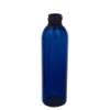 6 oz. Blue PET Cosmo Round Bottle with 24/410 Neck (Cap Sold Separately)