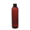 6 oz. Light Amber PET Cosmo Round Bottle with 24/410 Neck (Cap Sold Separately)
