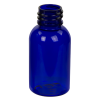 1 oz. Cobalt Blue PET Squat Boston Round Bottle with 20/410 Neck (Caps Sold Separately)