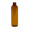 4 oz. Clarified Amber PET Cosmo Round Bottle with 20/410 Neck (Cap Sold Separately)