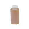 8 oz. HDPE Cylindrical Honey Bottle with 38/400 Neck  (Cap Sold Separately)