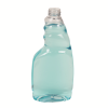 16 oz. Clear PET Oblong Spray Bottle with 28/400 Neck (Sprayer Sold Separately)