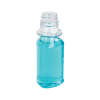 4 oz. Clear PET Triangle Bottle with 28/400 Neck  (Cap Sold Separately)