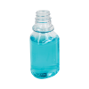 6 oz. Clear PET Triangle Bottle with 28/400 Neck  (Cap Sold Separately)