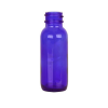 1/2 oz. Cobalt Glass Boston Round Bottle with 18/400 Neck (Cap Sold Separately)