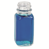 1 oz. Wide Mouth French Square Glass Bottle with 24/400 Neck  (Cap Sold Separately)