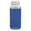 8 oz. Wide Mouth French Square Glass Bottle with 43/400 Neck  (Cap Sold Separately)