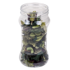 6 oz. Hourglass Clear PET Jar with 53/400 Neck  (Cap Sold Separately)