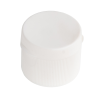 "24/410 White Ribbed Snap Top Cap with .25"" Orifice"