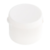 "28/410 White Ribbed Snap Top Cap with .125"" Orifice"