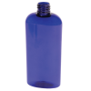 4 oz. Cobalt Blue PET Cosmo Oval Bottle with 20/410 Neck  (Cap Sold Separately)